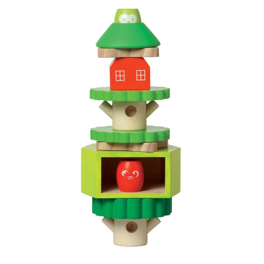 Manhattan Toy Treehouse Wooden Stacker & Block Set
