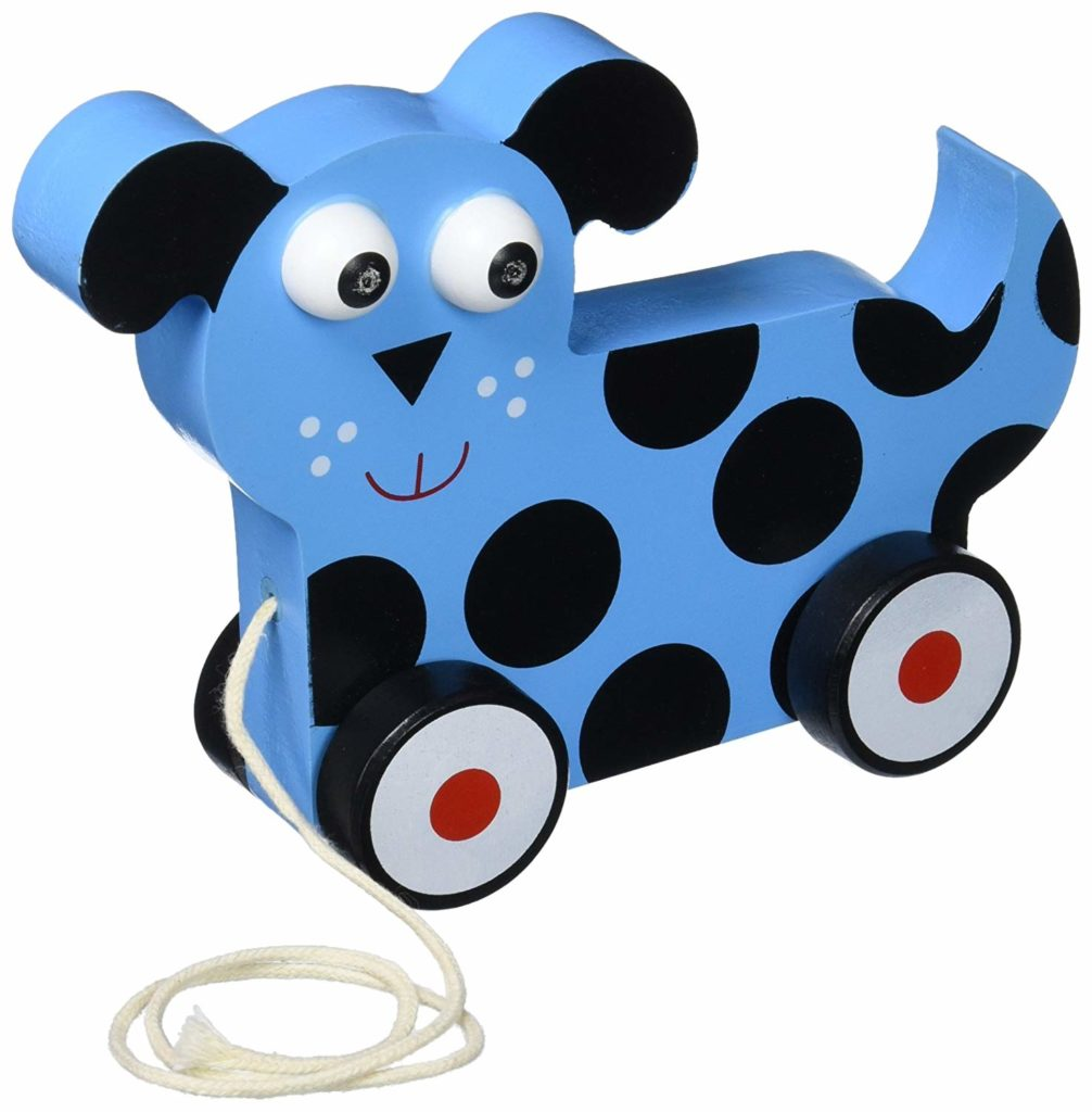 Imagination Generation Wooden Wonders Push-n-Pull Dalmatian Puppy Toy