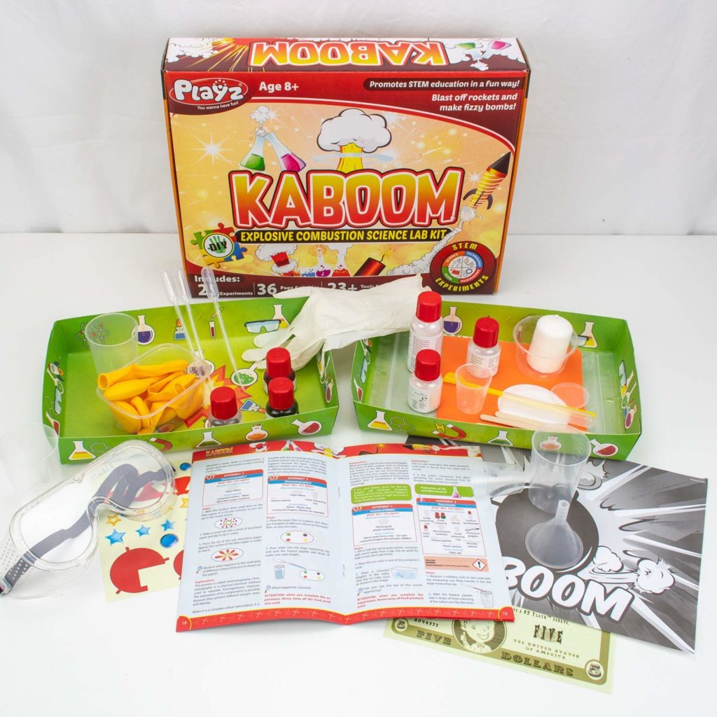 PlayzKaboom! Explosive Combustion Science Lab Kit - 25+ STEM Experiments
