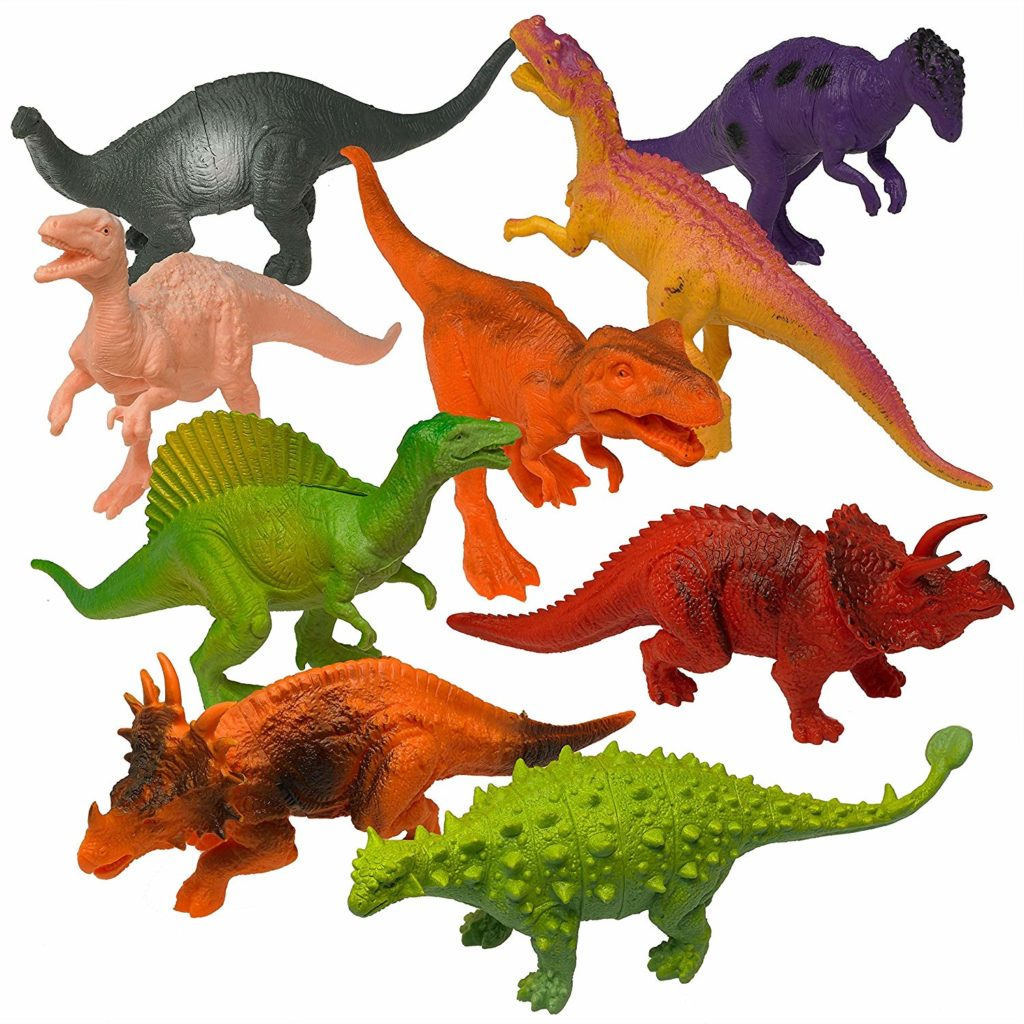 Prextex Realistic Looking 7 Dinosaurs Pack