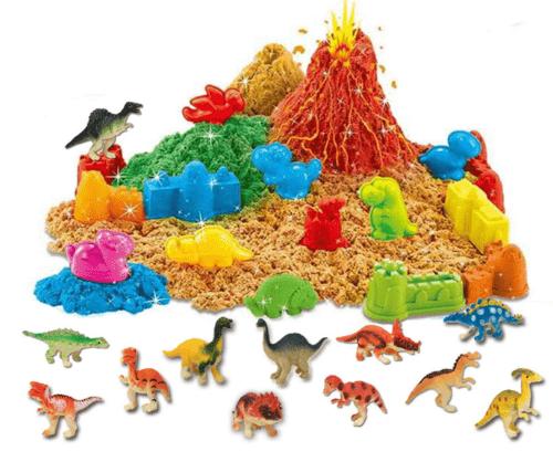 ToyVelt Dinosaur Kinetic Play Sand Toys, and Dinosaur Figures Set