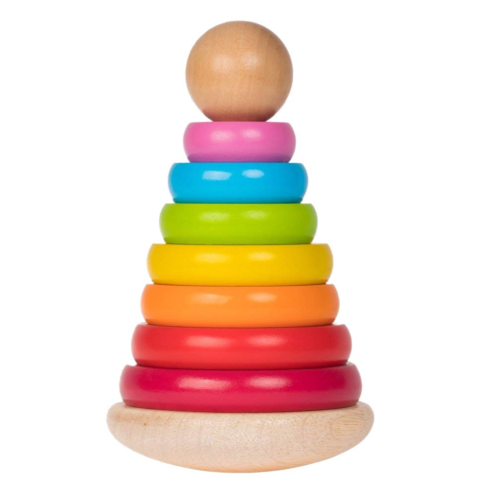 Ultimate Colors Wooden Ring Stacker Toy