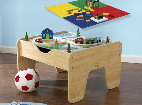 Classic train table and bricks sets