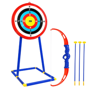 archery set for kids outside playing