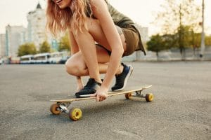 Girl riding on Longboards have become very popular