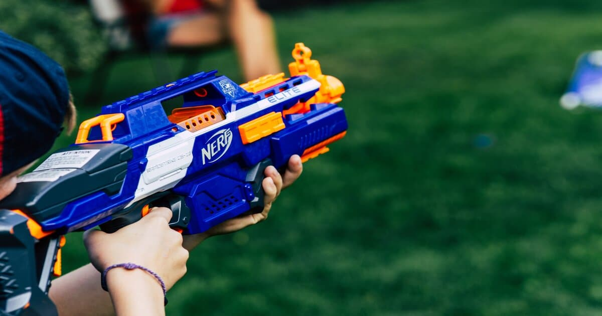 Feature Image for Battery-powered Nerf Gun