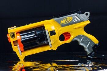 Yellow Battery-powered Nerf Gun