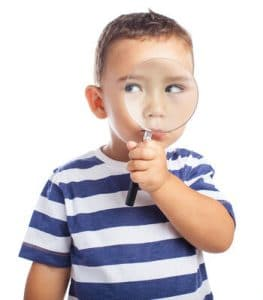Boy magnifying glass image for spy gears