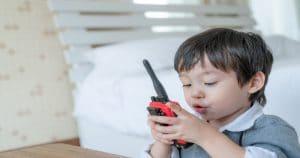 Boy on walkie talkie