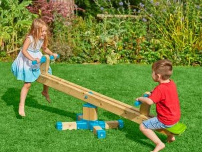 Wooden Sea Saw: Swing & Spin All Day!