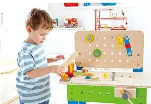 kids wooden workbench
